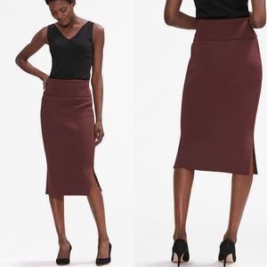 M.M. LaFleur Harlem Pencil Skirt Chestnut Medium